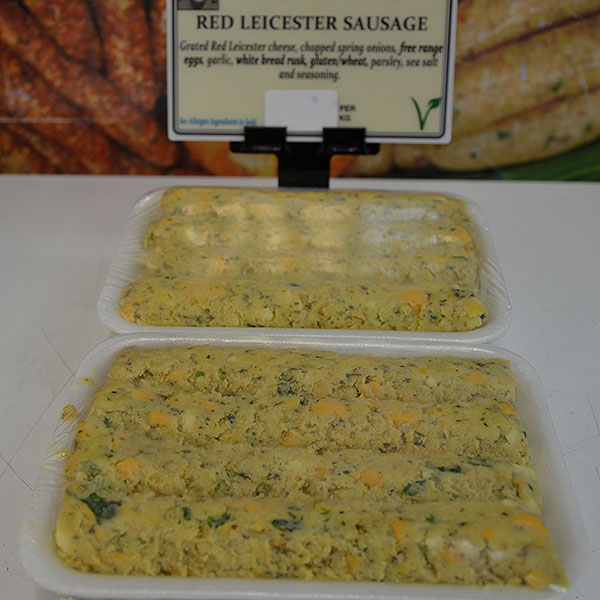 Red Leicester Sausages