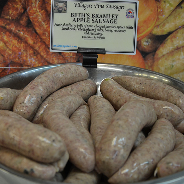 Beths Bramley Apple Sausages