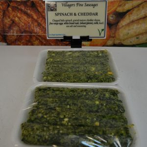 Spinach and Cheddar Sausages